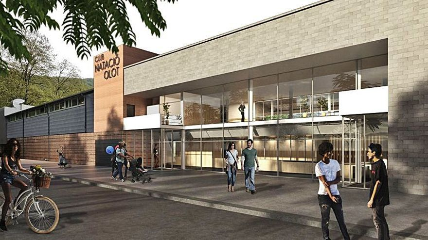 El CN Olot mostra la futura reforma de les instal·lacions