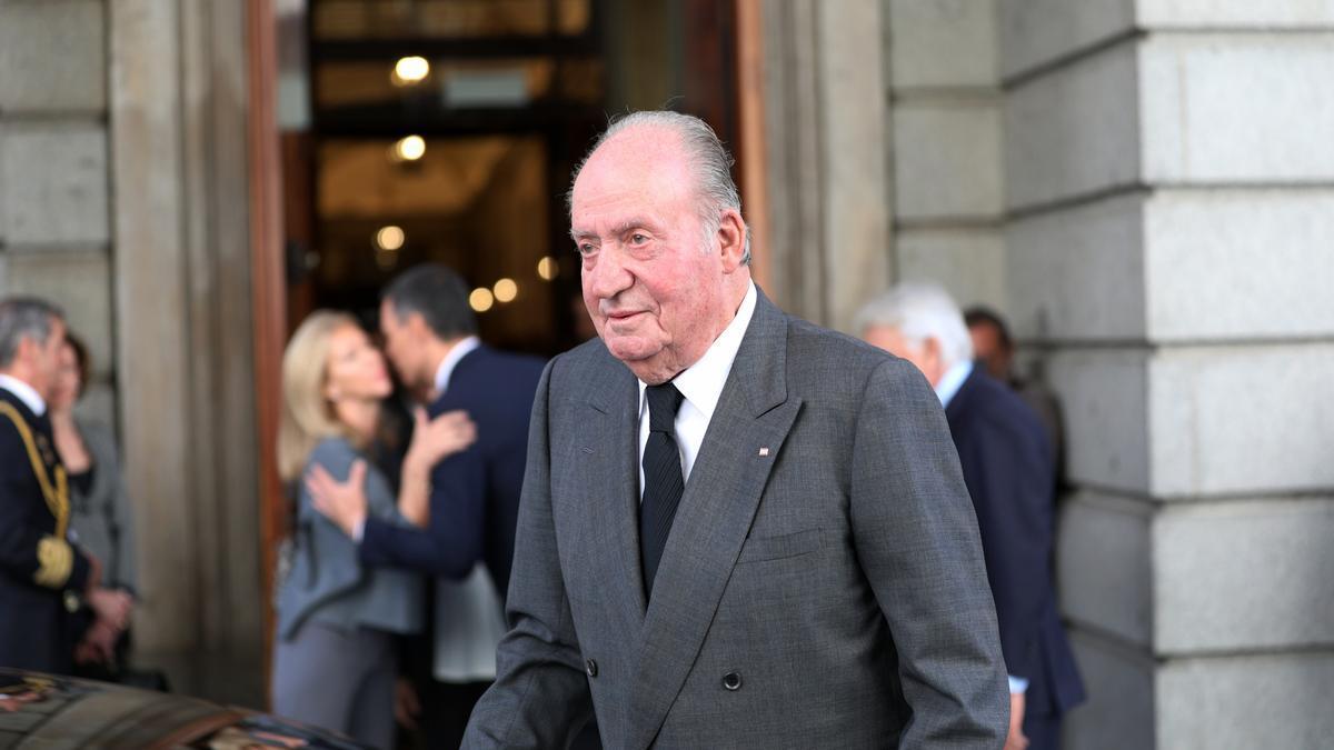 El rey emérito en uno de sus últimos actos públicos en España.