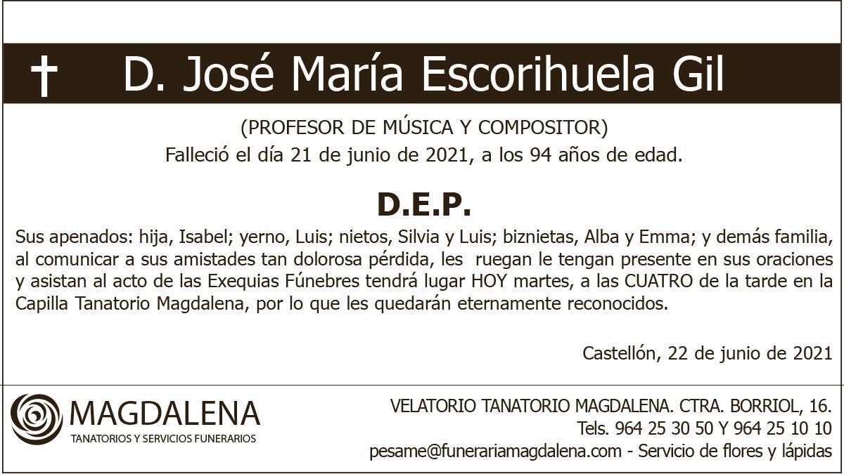 D. José María Escorihuela Gil