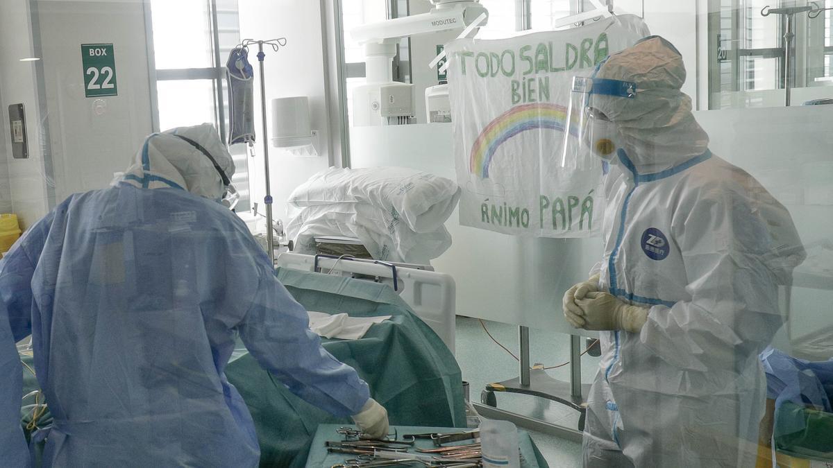 La UCI de Son Espases durante la pandemia.