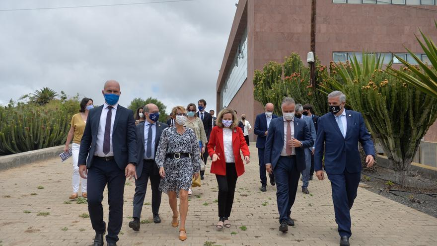 La ministra Nadia Calviño visita el Parque Científico Tecnológico de la ULPGC