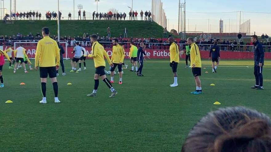 Primer entrenamiento de Djukic con el Sporting
