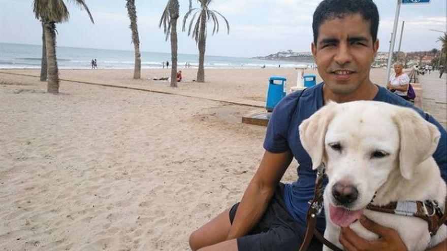 Emotiva despedida de Enhamed Enhamed a su perra-guía fallecida