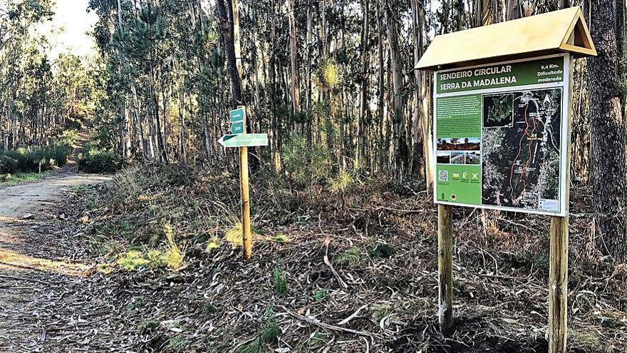 Desaparecen 14 señales del sendero Serra da Madalena