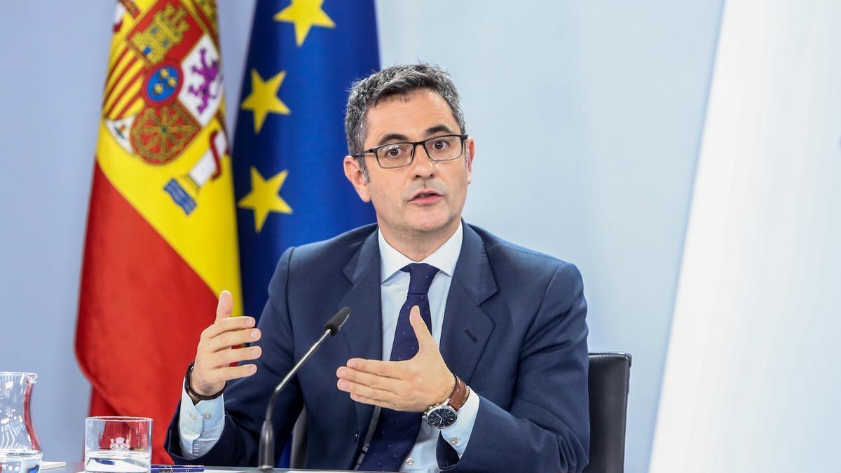 El ministro de Presidencia, Félix Bolaños.