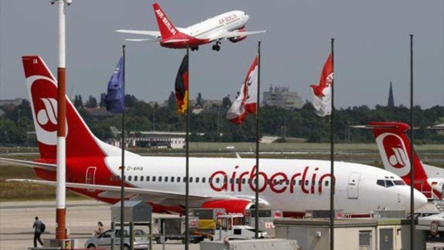 Air Berlín cancela más vuelos por bajas por enfermedad de los pilotos