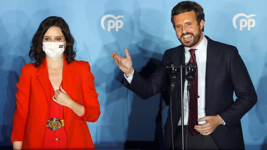 Casado se crece con la victoria de Ayuso y se lanza a por Sánchez