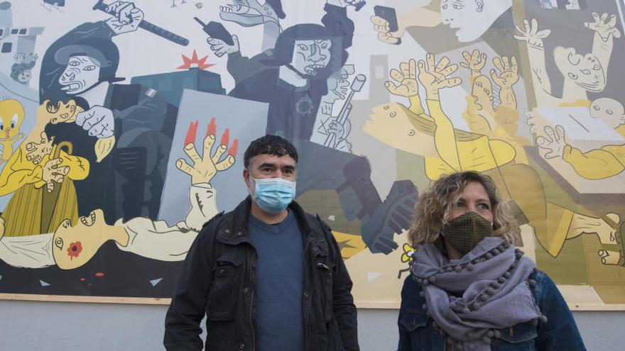 Moià recuperarà el mural de l'1 d'Octubre inspirat en el Guernica, que va desaparèixer