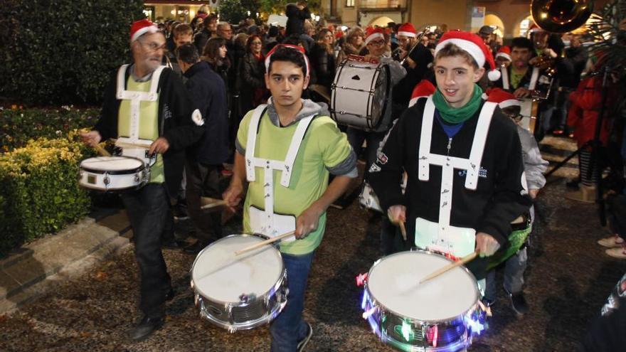 Festa a Girona per l'encesa dels llums de Nadal