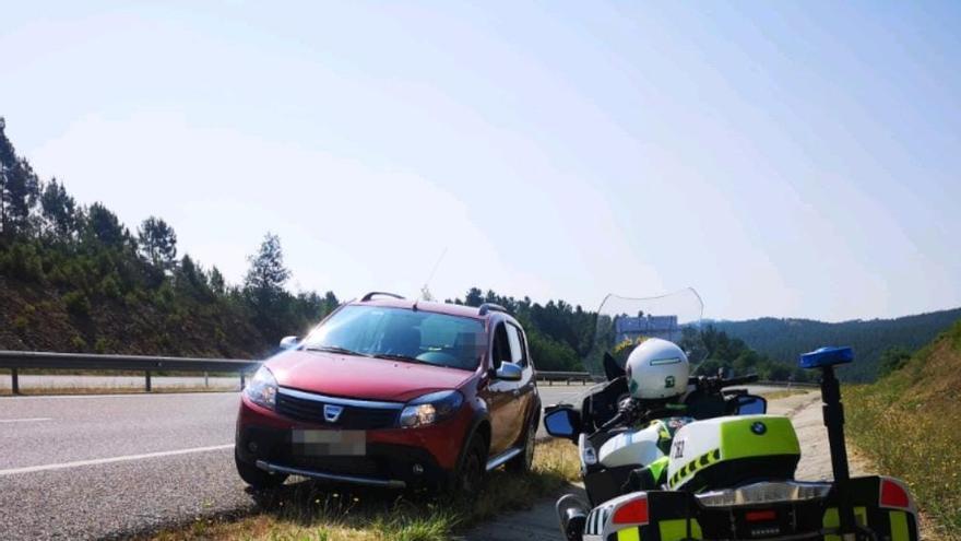 Interceptado un conductor circulando en sentido contrario en Ourense