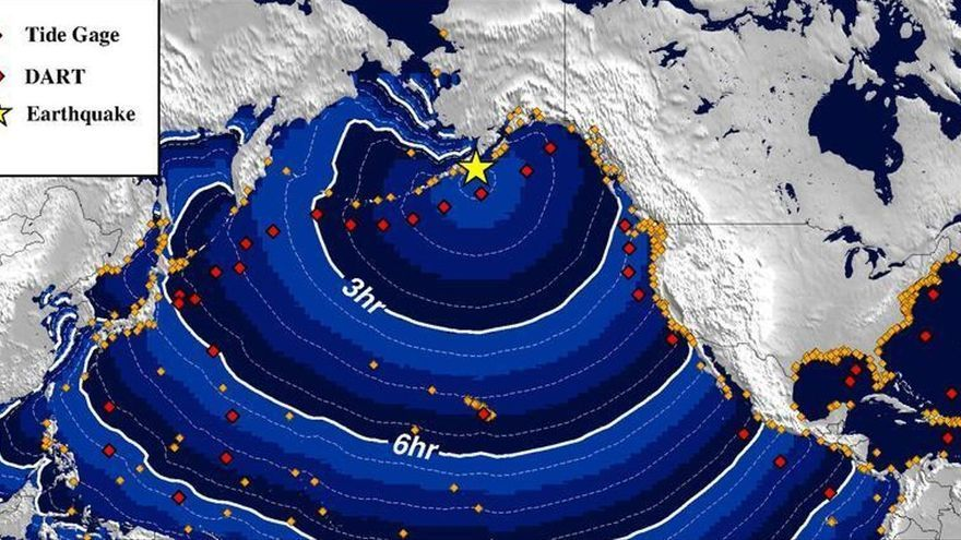 La red sísmica canaria capta un terremoto de magnitud 8,2 en Alaska
