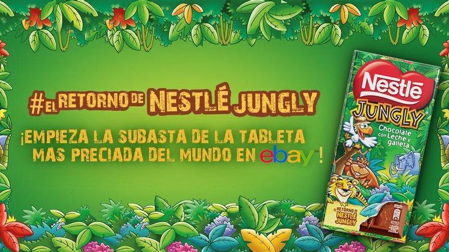 Nestlé Jungly vuelve y la puja por la primera tableta supera los 12.000 euros en Ebay