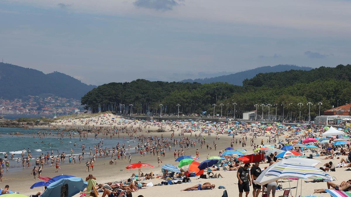 Vista de la playa de Samil