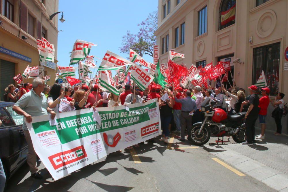 La manifestación convocada por CCOO y UGT, que comenzaba a mitad de semana en Marbella, llegaba este viernes a su meta