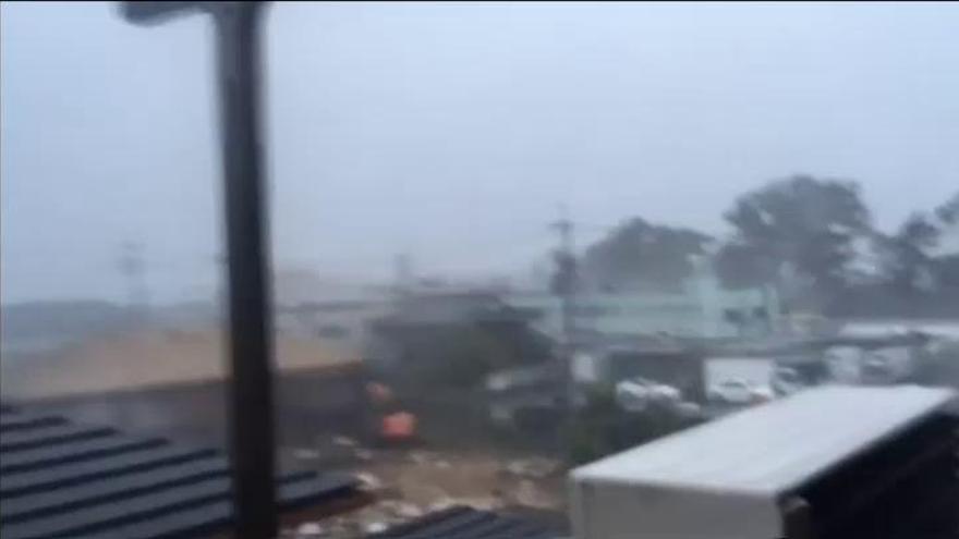 Diez muertos y 300 heridos en Japón por el tifón Jebi