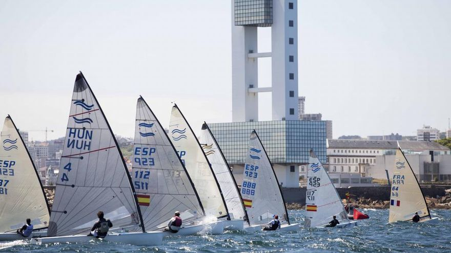 A Coruña mira a Tokio con el campeonato de España de la clase Finn