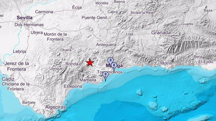 Registrados de madrugada dos terremotos de magnitud 3,1 y 2,9 con epicentro en Casarabonela y Serrato