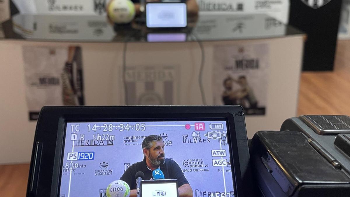 Juan García, este martes en rueda de prensa.