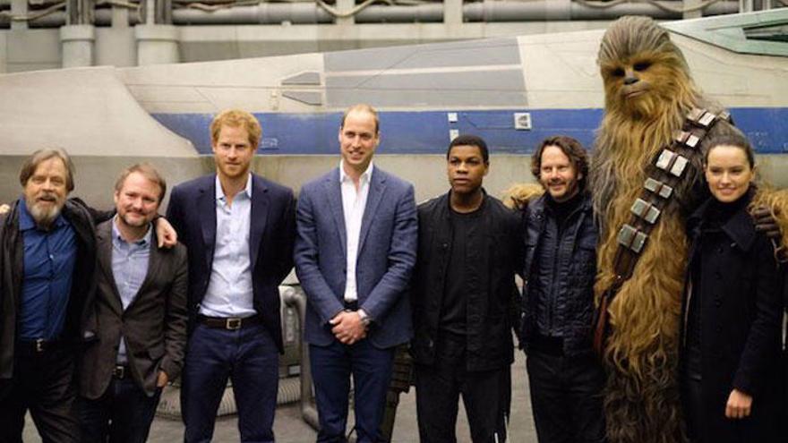 Los príncipes Guillermo y Enrique, cameo en 'Star Wars'