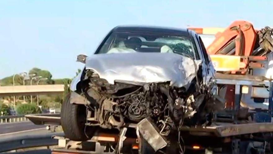 El conductor que causó el accidente en la autopista de Inca, positivo en alcoholemia