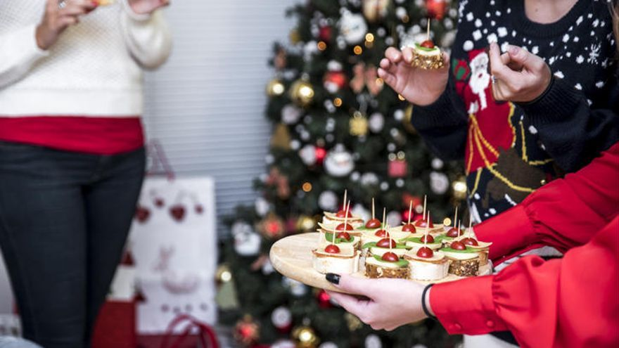 Canapés navideños para sorprender a tus comensales.