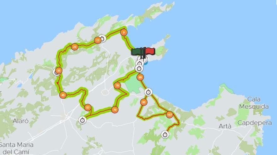 La celebración de la Ironman Mallorca 2021 provoca hoy sábado cortes en trece carreteras del norte de la isla