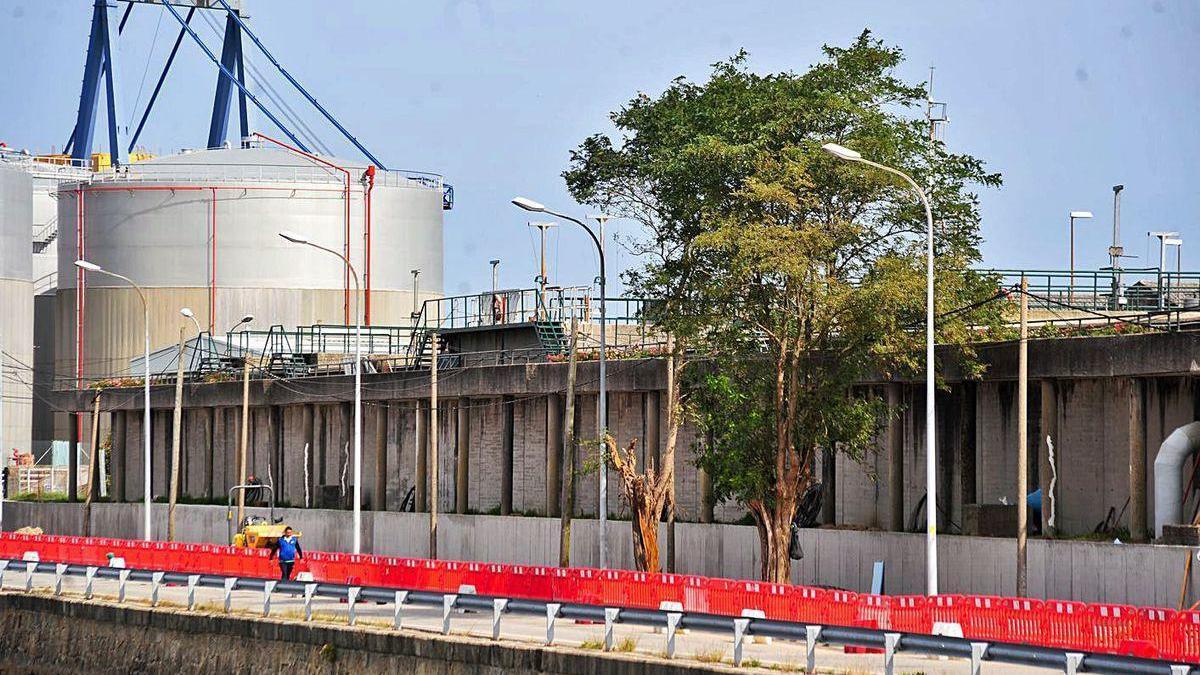 La estación depuradora de aguas residuales, Edar, de Vilagarcía, en Ferrazo.