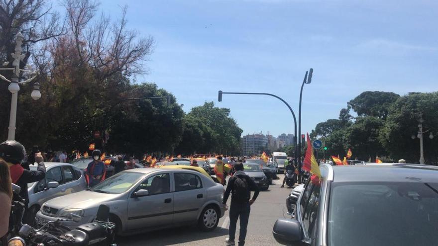 Manifestación contra el Gobierno convocada por Vox en Valencia