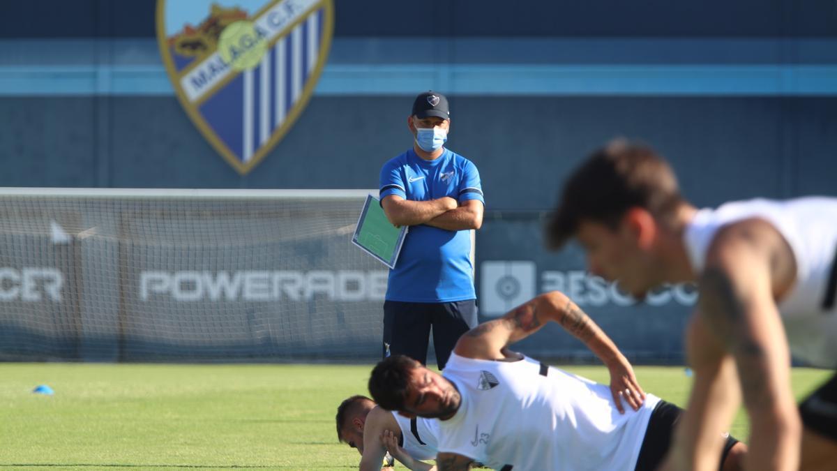 José Alberto, durante el primer entrenamiento de pretemporada.
