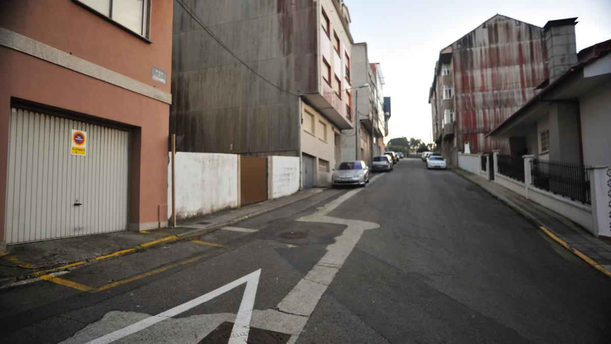 La calle Cantabria, en el barrio grovense de O Sineiro.