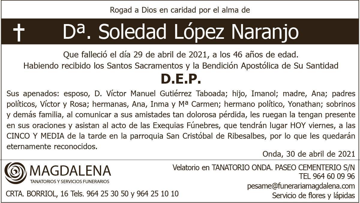 Dª Soledad López Naranjo