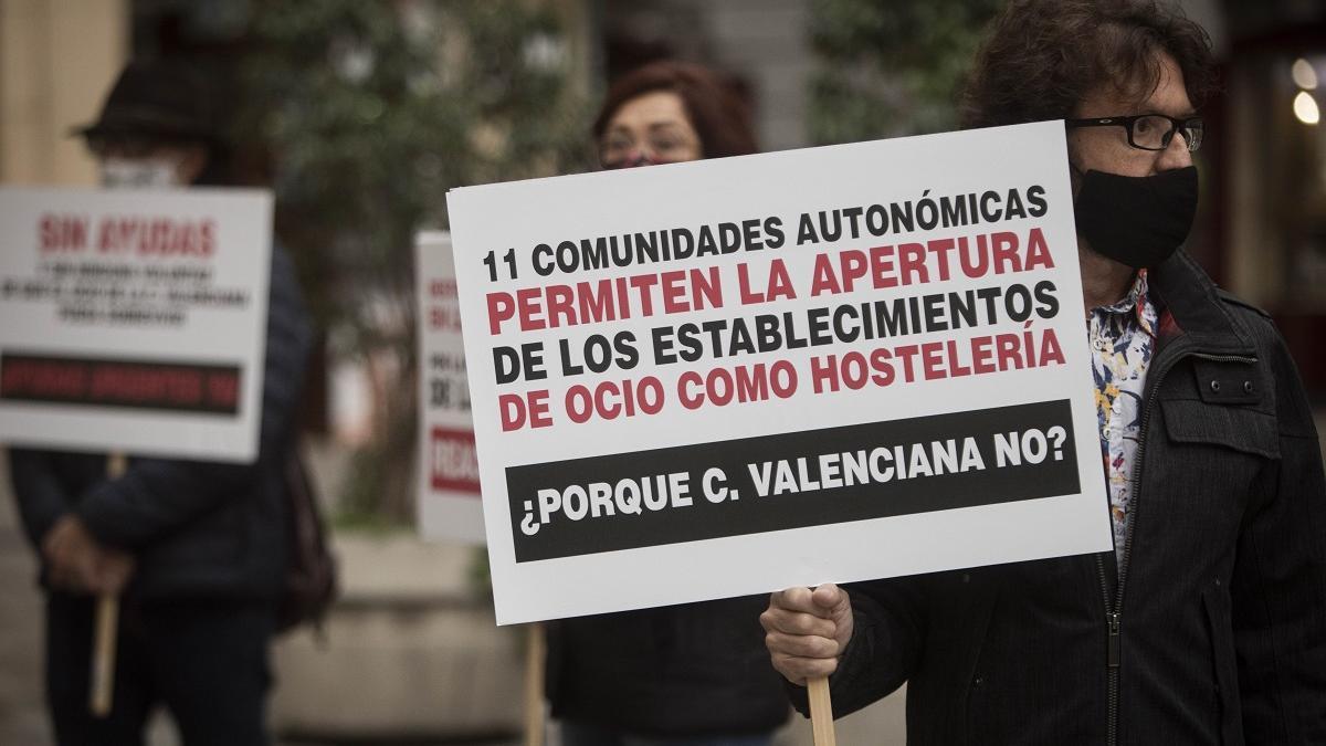 Protestas del ocio nocturno en València