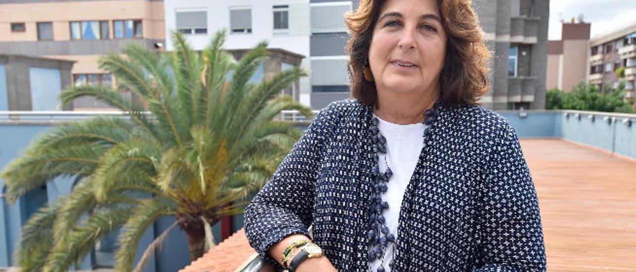 María Jesús Herrera, ayer en Casa África en Las Palmas de Gran Canaria.