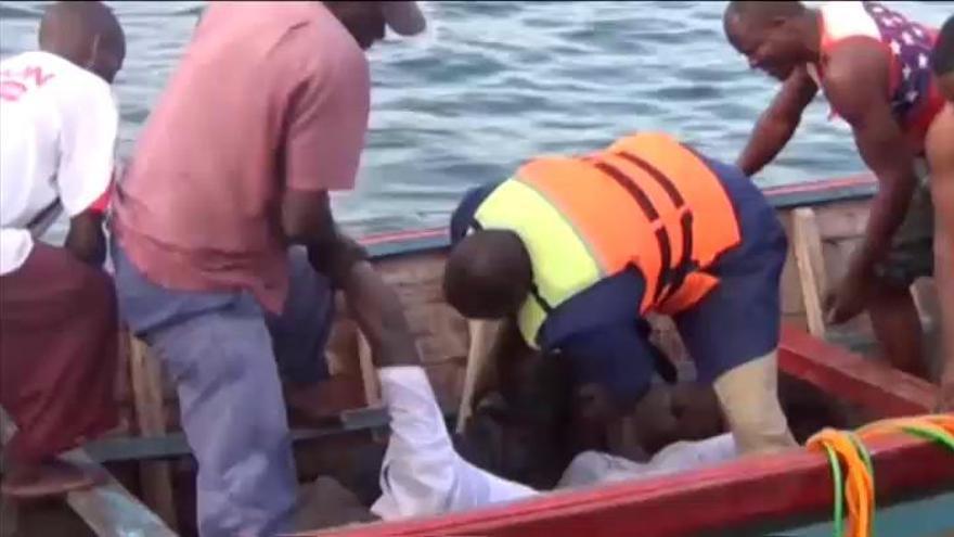 Elevan a 209 los muertos en el naufragio de un ferri en el lago Victoria, en Tanzania