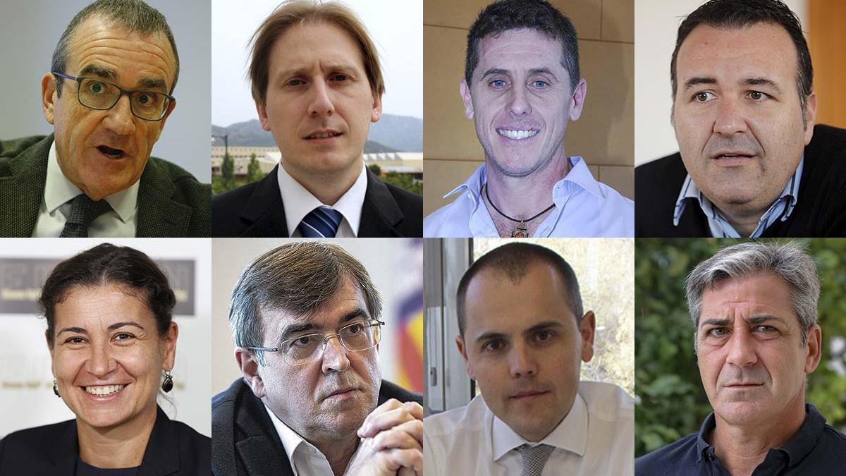 Juan Pedro Yllanes, Vicente J. Canals, Chema Muñoz, Francesc Dalmau, Belén Linares, Francesc Antich, Antón Martínez y Fausto Oviedo
