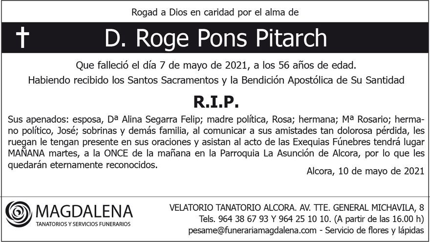 D. Roge Pons Pitarch
