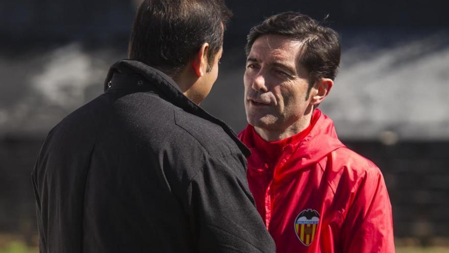 Garay es la única ausencia del entrenamiento del Valencia