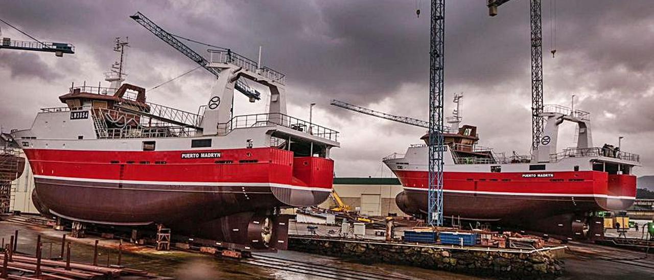 Los dos buques de Iberconsa construidos en Armón. |   // ARMÓN