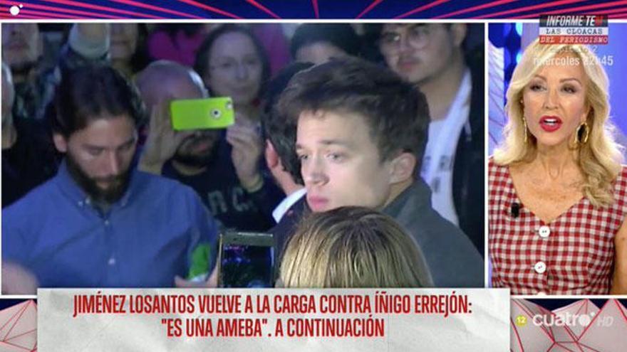 """Carmen Lomana: """"Errejón me da morbo porque tiene cara de bebé"""""""