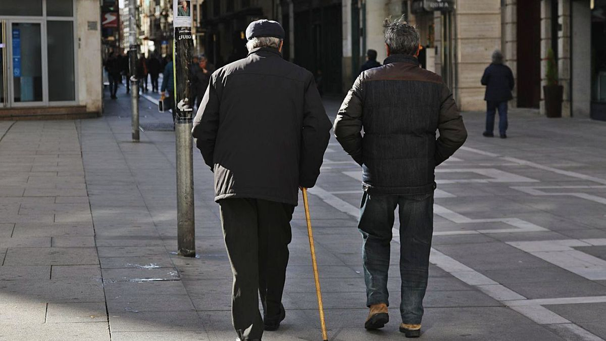 Pensionistas en Zamora.
