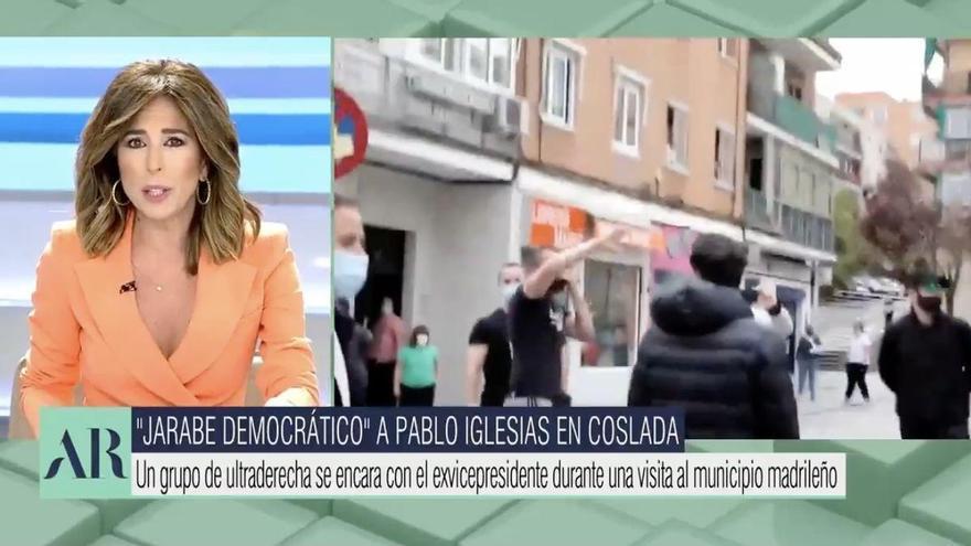 """Ana Terradillos llama """"jarabe democrático"""" al acoso a Iglesias y Javier Ruiz la frena: """"Esto es una salvajada"""""""