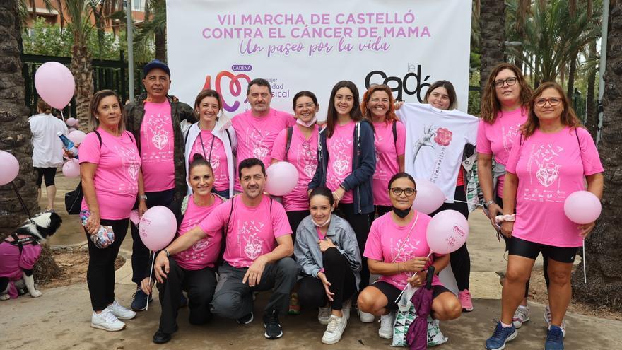 Castelló se tiñe de rosa contra el cáncer de mama