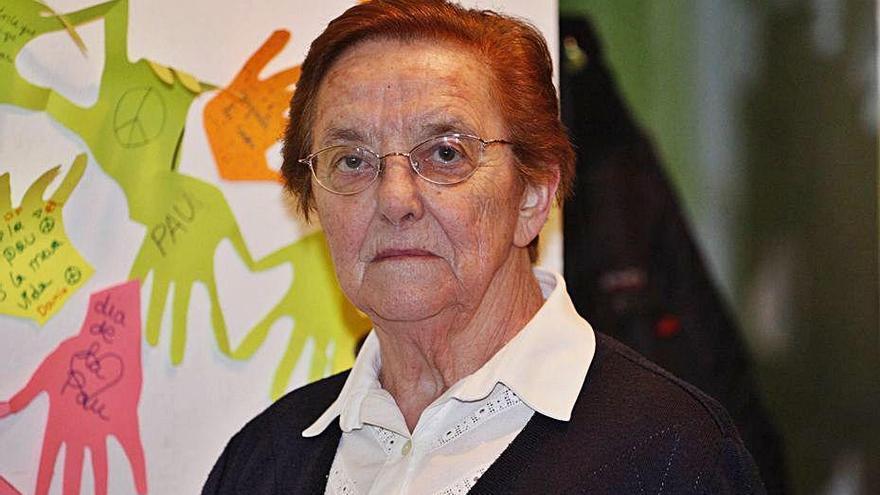 Mor sor Clara Villoslada, filla adoptiva de Salt i Premi Tres de Març l'any 2004