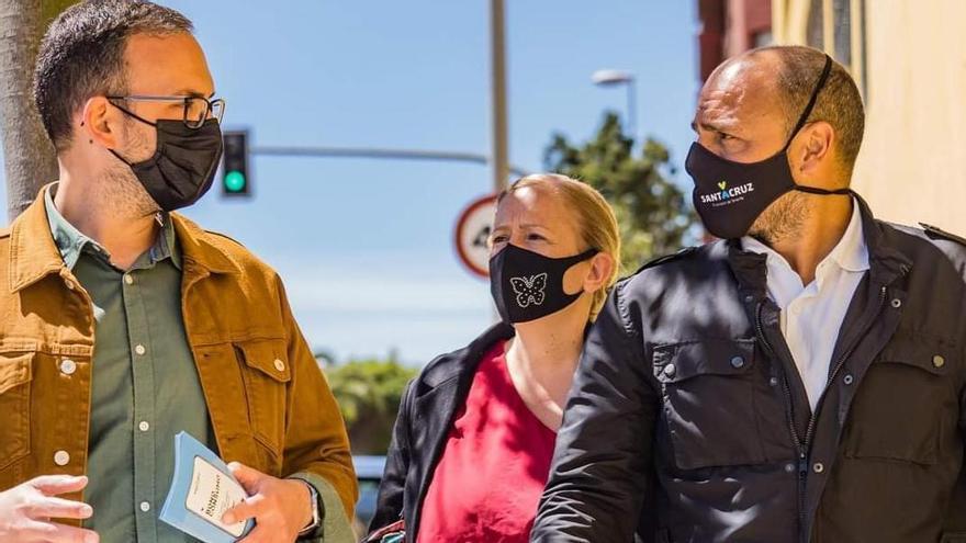 Javier Rivero (a la izquierda) y Alfonso Cabello, en una visita al Suroeste.
