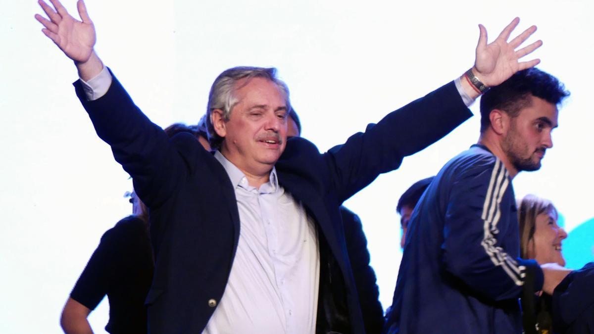 Alberto Fernández, tras su victoria electoral en 2019.