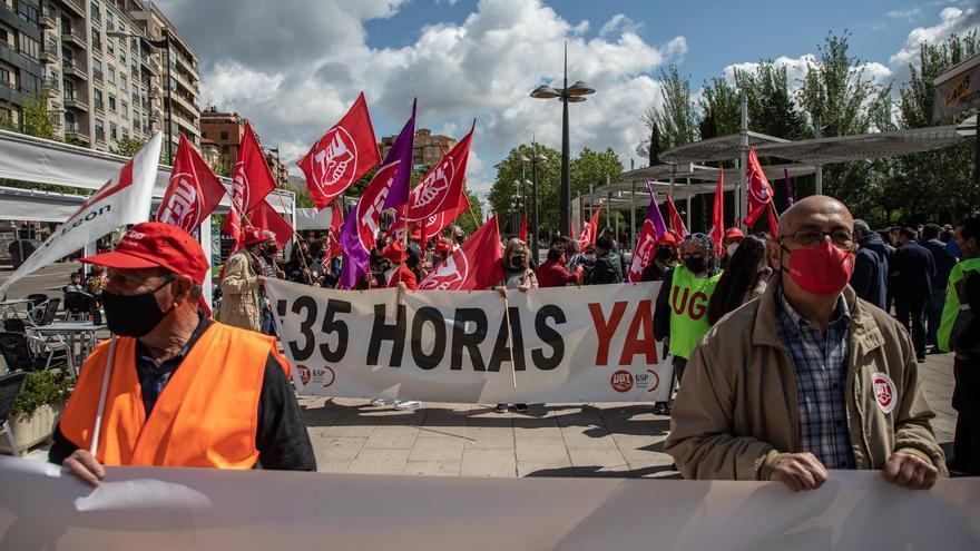 GALERÍA | Así ha sido la manifestación por el Día del Trabajador en Zamora
