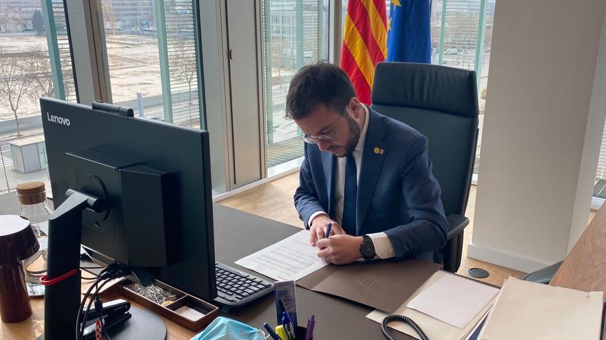 """Aragonès pide que la nueva legislatura sea de diálogo y que el Estado haga """"sus deberes"""""""