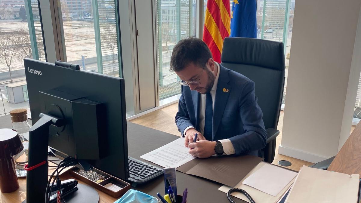 El vicepresidente de la Generalitat en funciones, Pere Aragonès