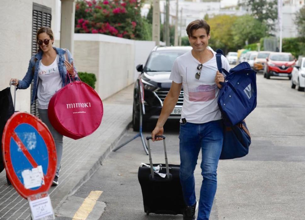 David Ferrer y su mujer Marta Tornel.