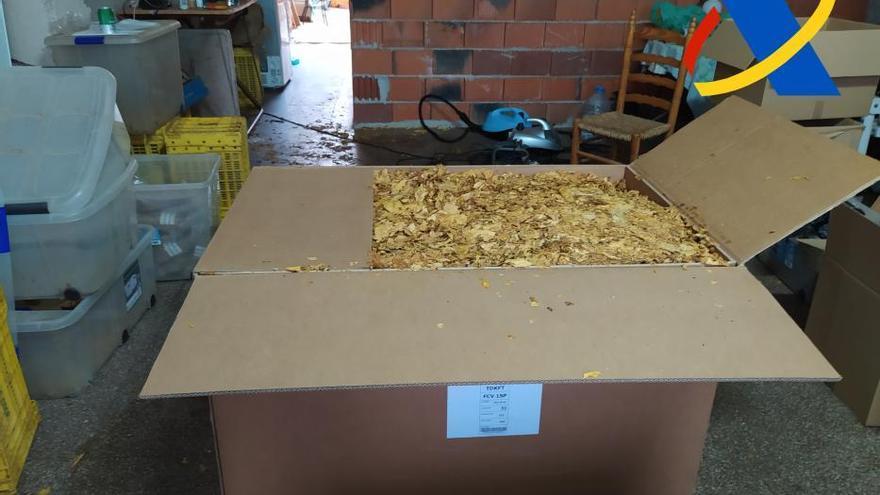Aprehenden en Murcia 300 kilos de picadura de tabaco de contrabando